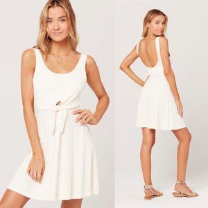 L*Space 90s Topanga Mini Dress Cream Sz Small NWT